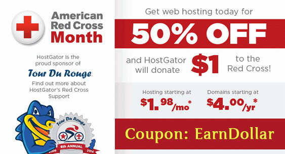 Hostgator 50 Off Discount Offer 2014 - HostGator Red Cross Promo 2014