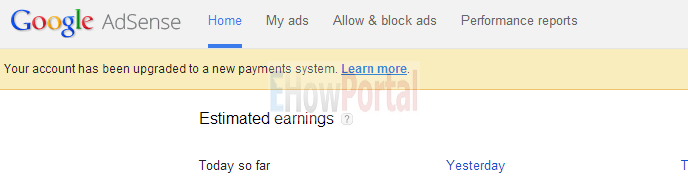 Adsense Account has Upgraded