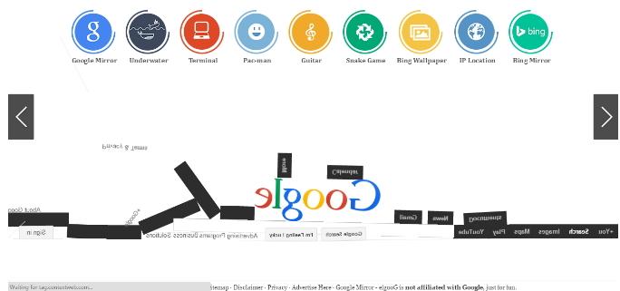 Google Gravity Mirror