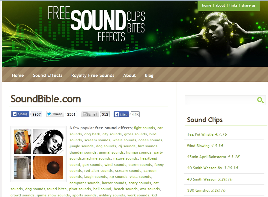 Powerpoint Sound Clips -   - Create