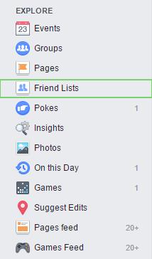 Facebook Friends List 2