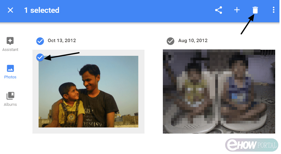 delete google photos from picasa web album