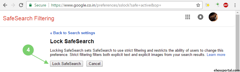google safesearch link