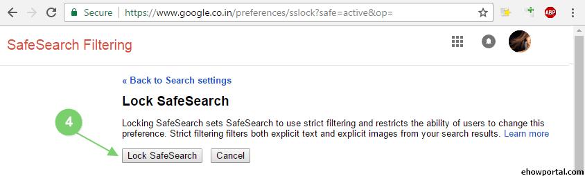 google safesearch link