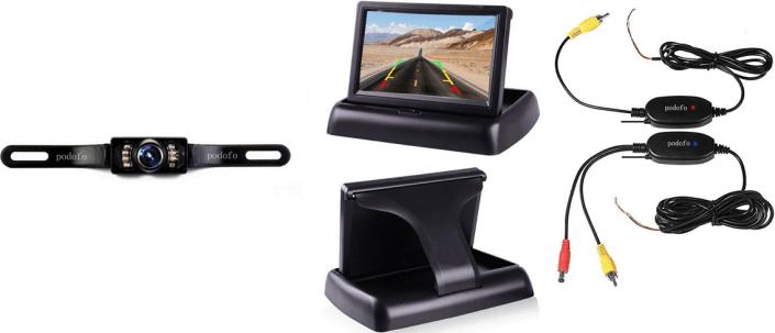 Podofo Wireless Backup License Plate Camera