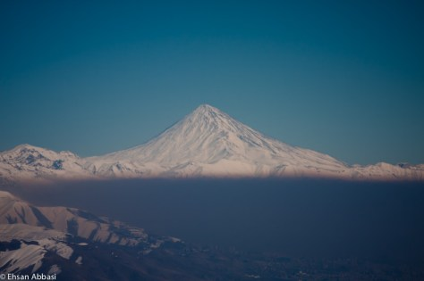 Mount Damavand and Tehran Pollution
