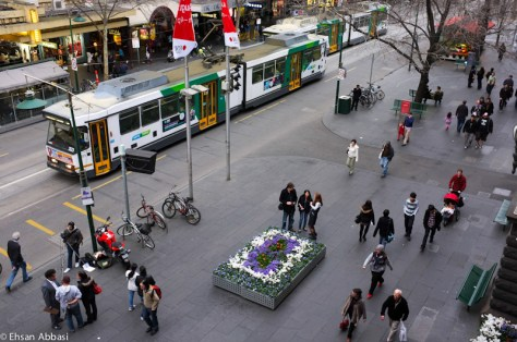 People in Swanston Street