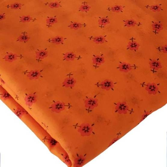 Floral Orange Turban