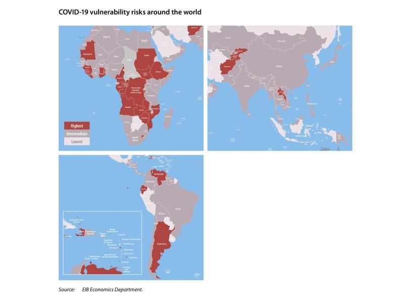 नया ईआईबी सूचकांक यूरोपीय संघ के बाहर के देशों में COVID -19 के लिए आर्थिक भेद्यता को मापता है