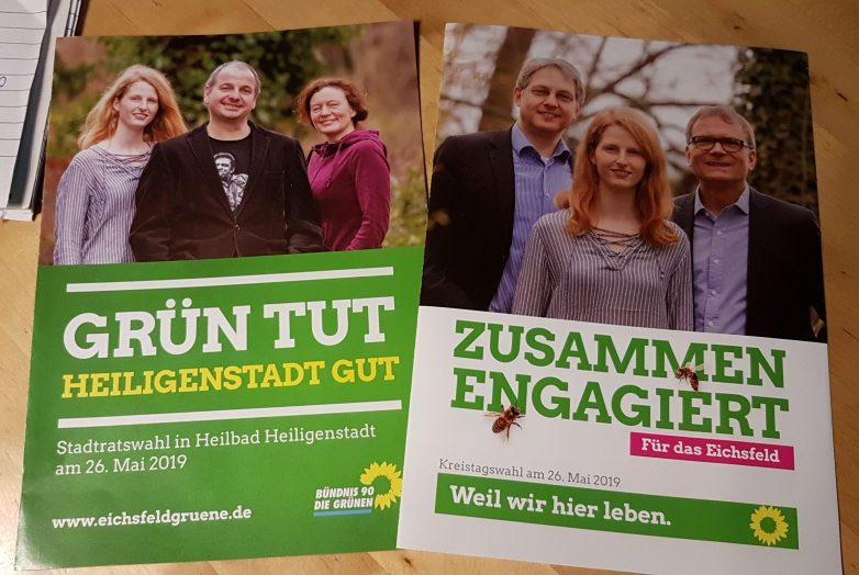 Unsere Flyer für die Kommunalwahl.