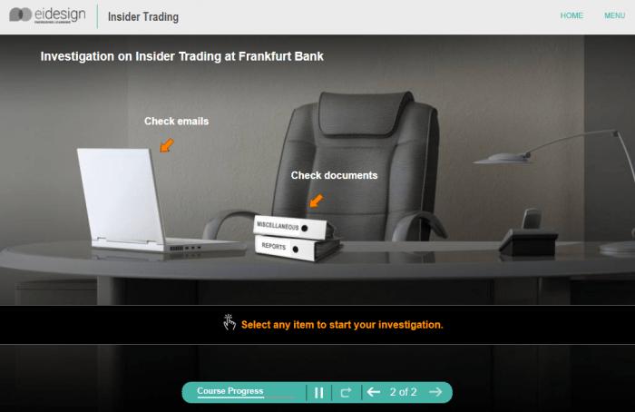 Online Compliance Training - Insider Trading Level 3 - 2