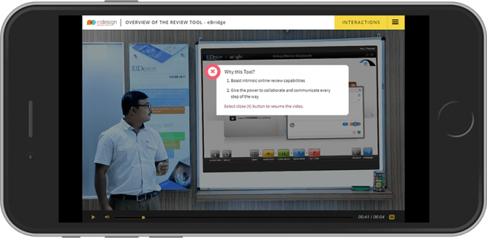 Virtual Classroom Delivered Using Interactive Video Format