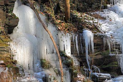 Eis, Eiszapfen, Wasserfall, Klidinger Wasserfall, Schießlay