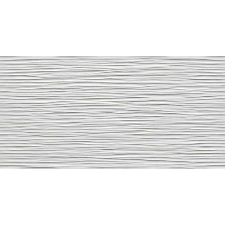 3d wave white glossy faience a relief vague 40x80 cm blanc