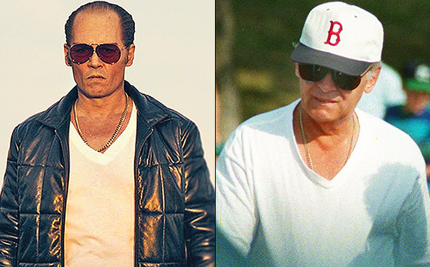 Johnny Depp as Whitey Bulger in Black Mass