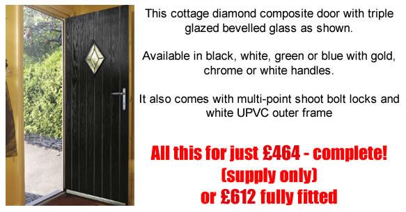 Unfold Your Door To A Better World  sc 1 st  Frameswall.co & Black Composite Door White Frame | Frameswall.co