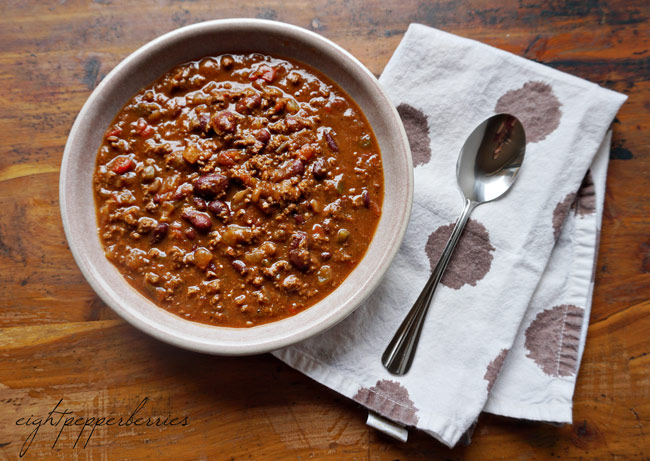 Kicked Up Chili Recipe >> Eight Pepperberries blog