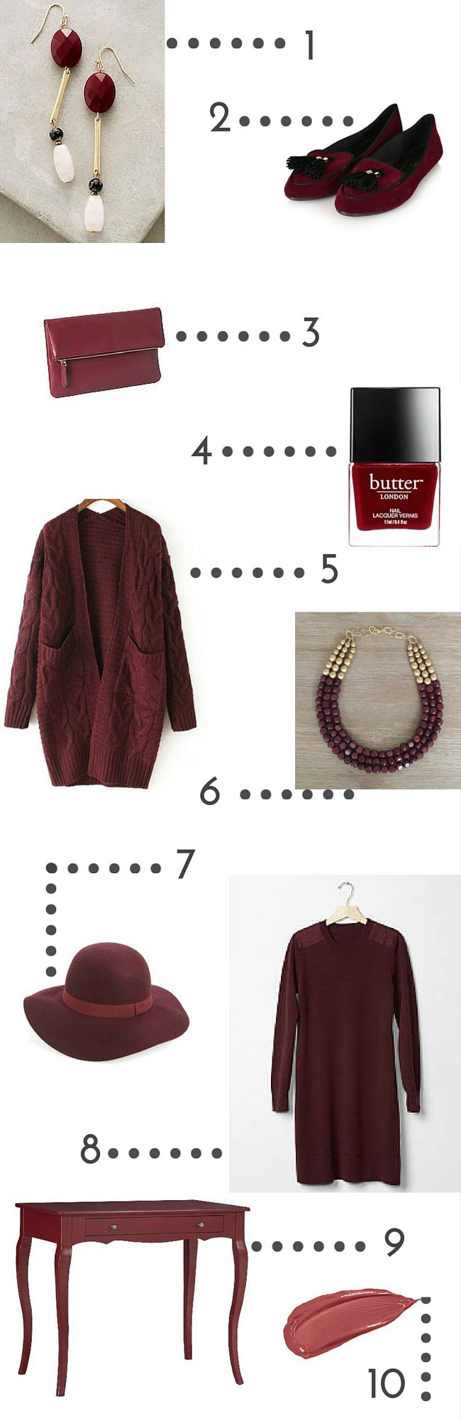 Color Crush: Marsala >> www.eightpepperberries.com