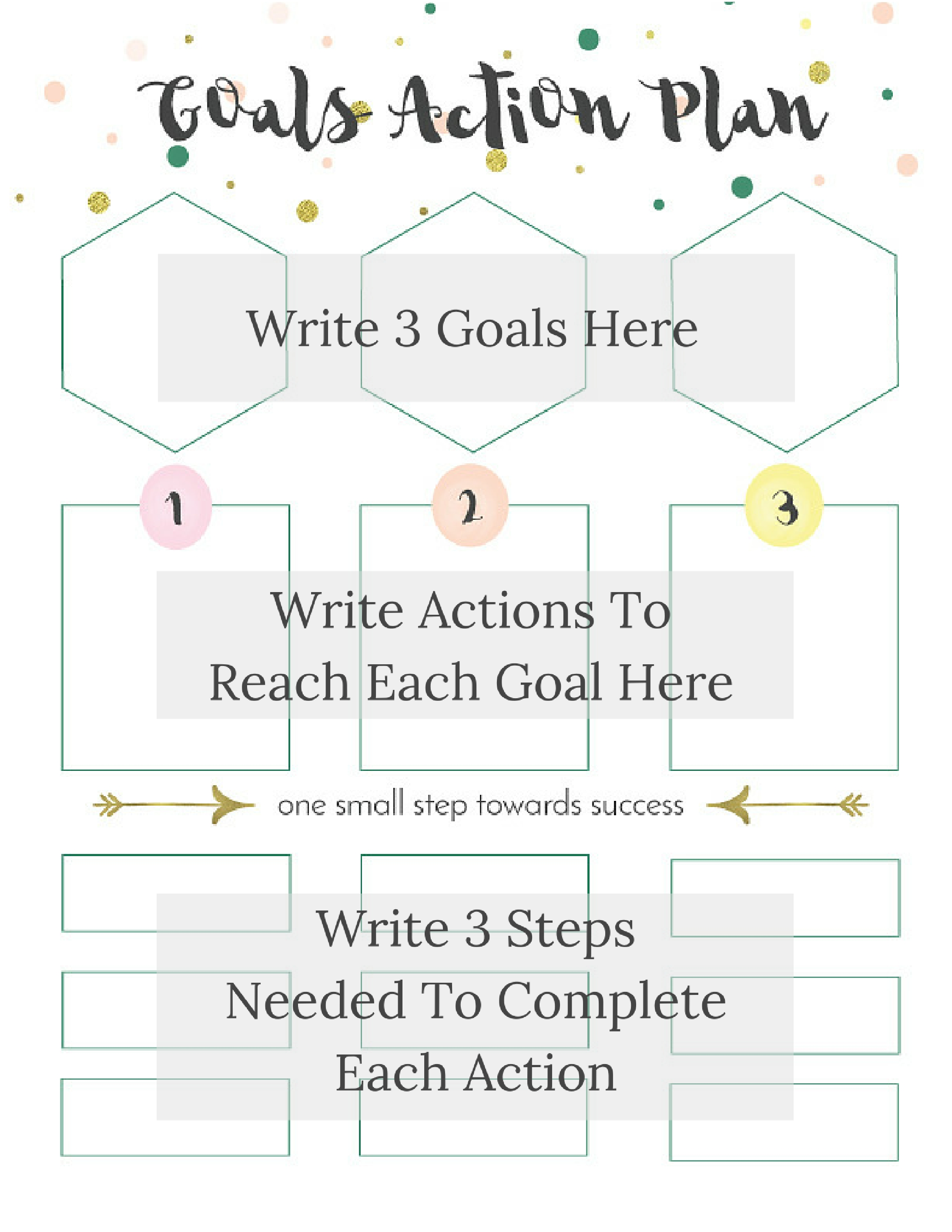 How To Make Attainable Resolutions Printable Goals Worksheets Eight Pepperberries