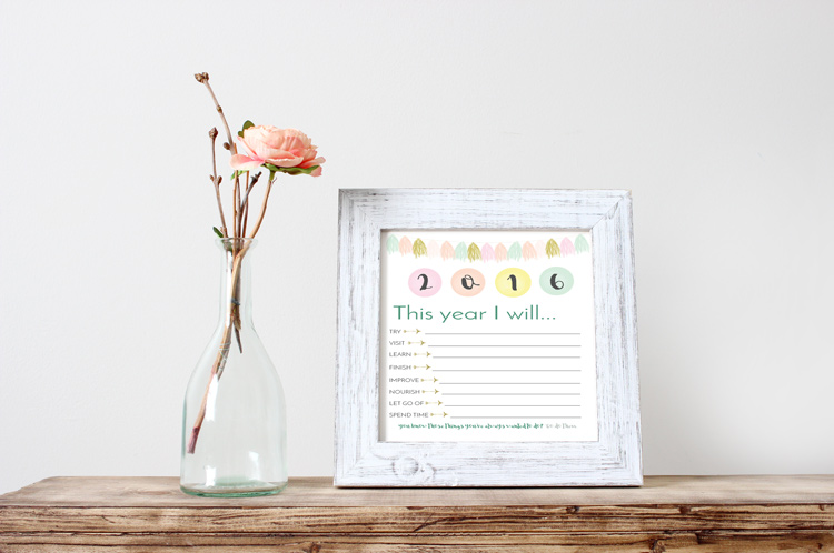Start 2016 of with a bang using the Printable Resolutions List + Bonus Goal Worksheet. Full instructions for the goal worksheet on the blog. >> Eight Pepperberries