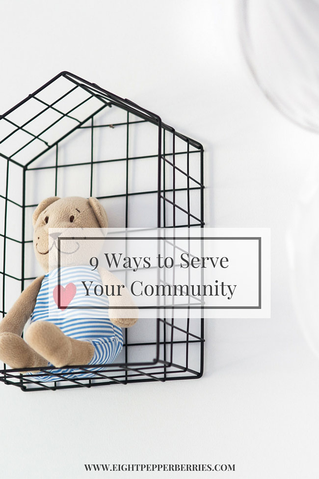 9 ways to serve your community