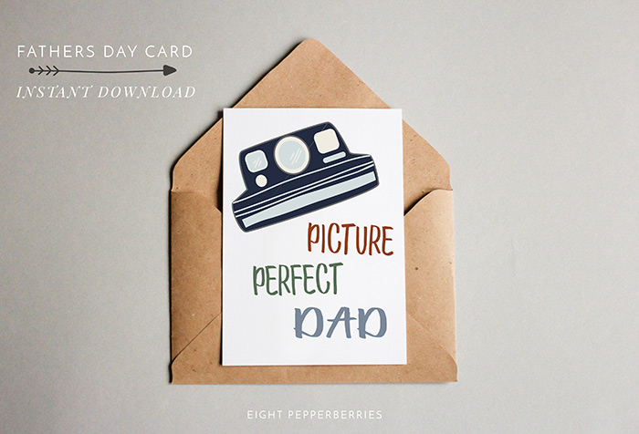 Picture Perfect Dad: Free Printable Fathers Day Card >> Eight Pepperberries