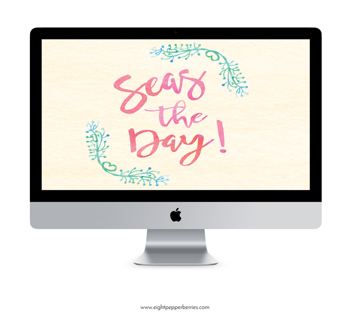 'Seas The Day' free summer wallpaper for desktop + iphone >> Eight Pepperberries