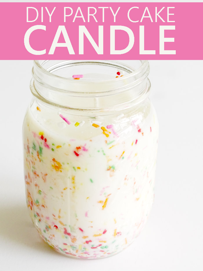 DIY Party Cake Candle from Living La Vida Holoka featured on Totally Terrific Tuesday host by Eight Pepperberries.