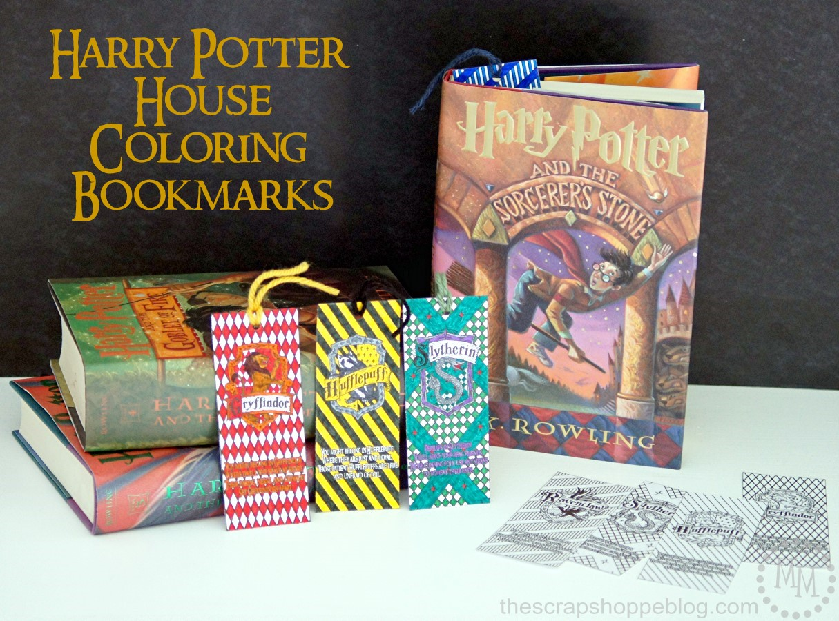 Harry Potter House Coloring Bookmarks by The Scrap Shoppe>> featured on Totally Terrific Tuesday host by Eight Pepperberries.