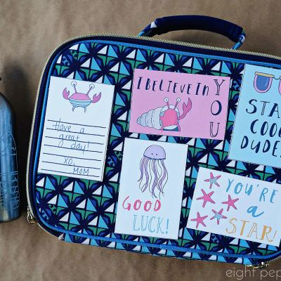 Seaside Lunchbox Notes – A Back To School Freebie!