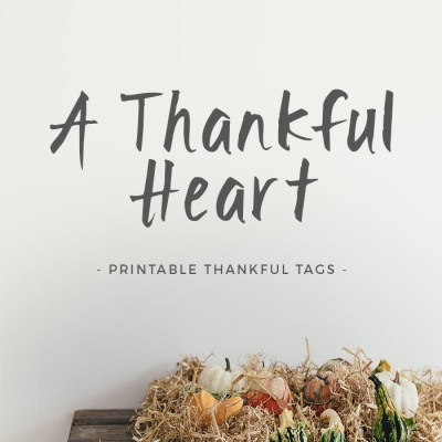 A Thankful Heart | Free Printable Gratitude Tags for Thanksgiving >> Eight Pepperberries
