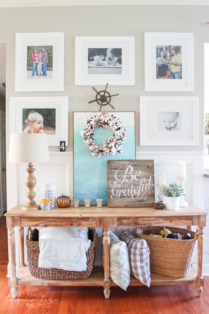 5 Simple Gallery Wall Ideas by The Turquoise Home >> Featured on the Totally Terrific Tuesday Link Party hosted by Eight Pepperberries