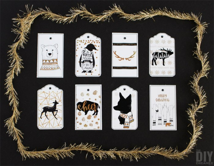 Printable Woodland Gift Tags by The DIY Dreamer >> Featured on the Totally Terrific Tuesday Link Party hosted by Eight Pepperberries