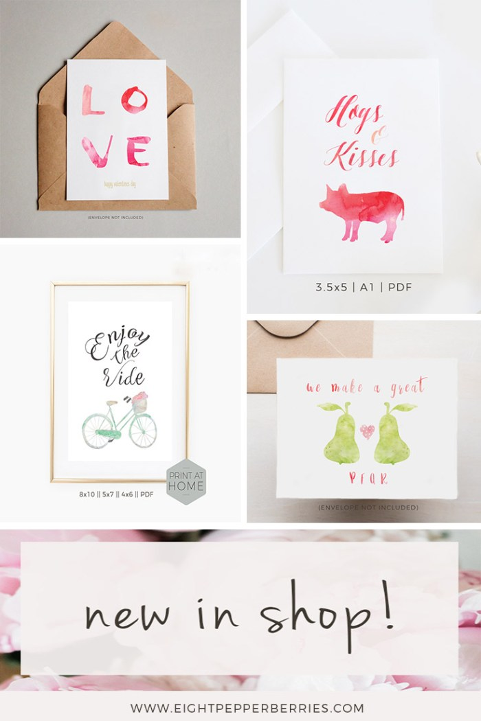 Because You're Full Of Love, New Valentines Day Cards Are In the Eight Pepperberries Paperie Shop! Shop here >> www.eightpepperberries.etsy.com