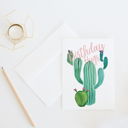Birthday Hugs || Birthday card by Eight Pepperberries