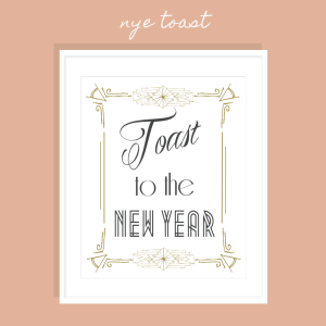 Toast to the New Year FREE Printable Art Print >> Eight Pepperberries