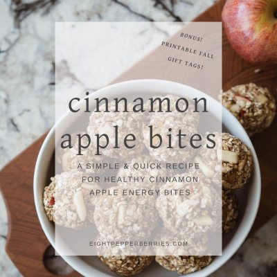 Cinnamon Apple Energy Bites + Printable Fall Gift Tags