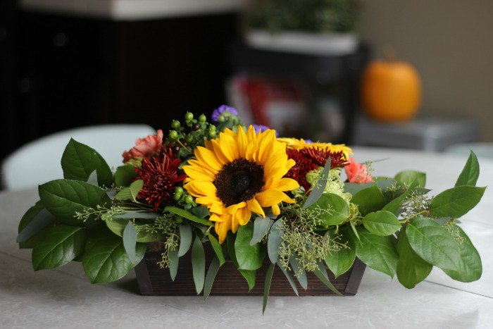 DIY Fall Floral Arrangement by Gluesticks Blog featured at the Totally Terrific Tuesday Link Party hosted by Eight Pepperberries