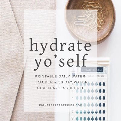 Hydrate Yo' Self {printable water tracker}