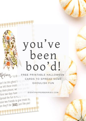 Free Printable You've Been Boo'd Halloween Card >> Eight Pepperberries