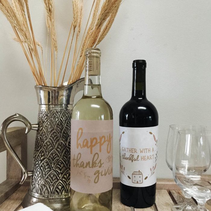 An Attitude of Gratitude || Show your appreciation to your Thanksgiving host with these free printable thanksgiving wine labels >> Eight Pepperberries