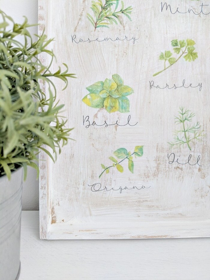 DIY Rustic Herb Sign by Kreativ K at the Totally Terrific Tuesday Link Party hosted by Eight Pepperberries