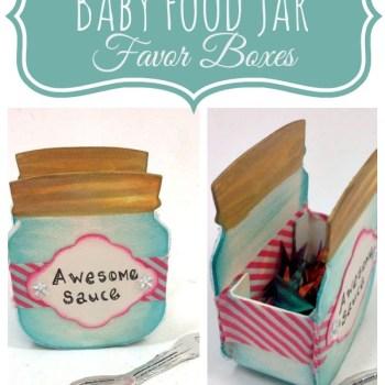Baby Food Jar Favor
