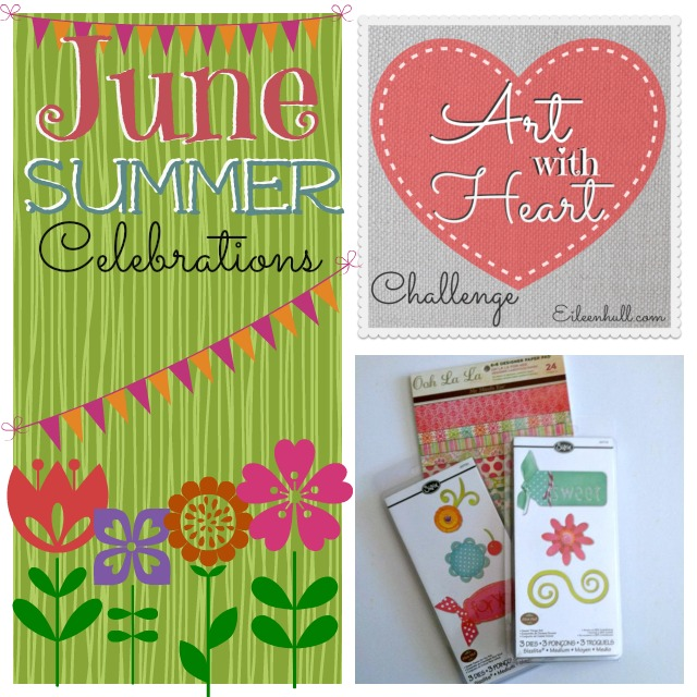 Art with Heart Challenge June Challenge Sizzix Prize Pack | Eileenhull.com