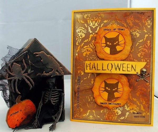 Halloween Artist Trading Block and Card by Tracy Evans | Eileenhull.com