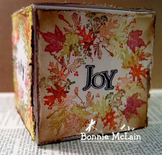 The Joy of Fall Artist Trading Block by Bonnie McLain |Eileenhull.com