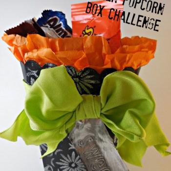 Halloween Popcorn Box Challenge