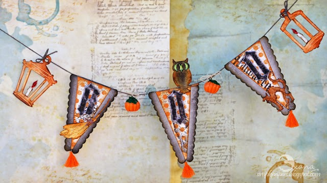 Sizzix Halloween Boo Banner by Scrappylicious | Eileenhull.com