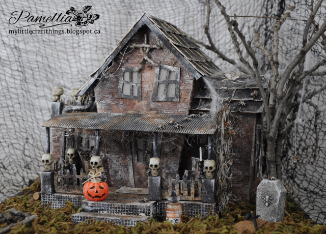 Upcycled Pizza Box Haunted House by Pamellia Johnson
