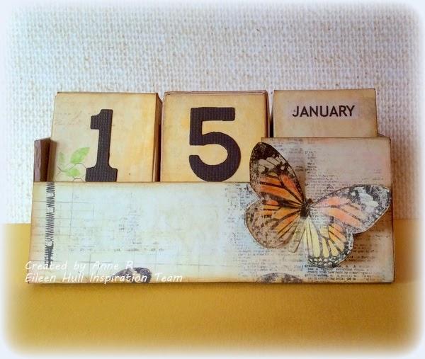 Artist Trading Block Perpetual Calendar by Anne Redfern